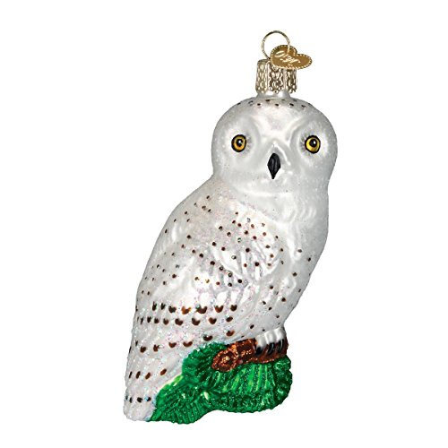 Old World Christmas Great White Owl Glass Blown Ornament