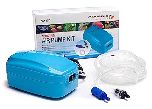 Aquaflow-Technology-AAP-Pompe--air-unique-pour-aquarium-de-poissons-exotiques-Inclus-tuyaux-dair-Pierres-et-soupape-anti-retour-HJS-308
