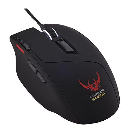 Corsair Gaming Sabre RGB (CH-9000056-EU) gaming mouse a elevate prestazioni con sensore Ottico da 6400DPI e retroilluminazione a LED RGB - colore nero