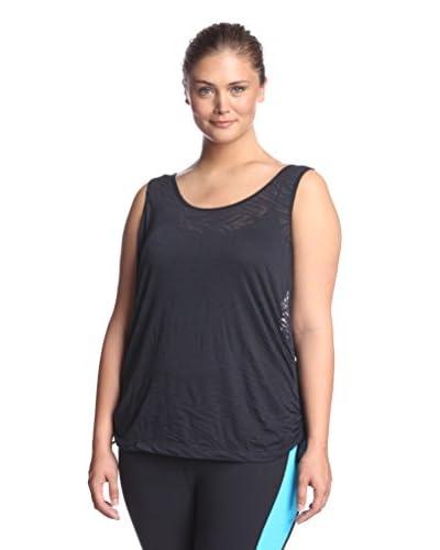 Katie K Activewear Plus Women's Signature K Burnout Tank
