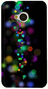 Attractive multicolor printed protective REBEL mobile back cover for HTC One M7 D.No.N-L-11125-M7