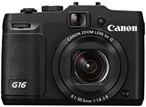 Canon Powershot G16 ( 12.1 MP,5 x Optical Zoom,3 -inch LCD )