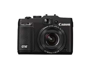 """Canon PowerShot G16 Appareil photo numérique compact 12,1 Mpix Écran LCD 3"""" Zoom optique 5X Noir"""