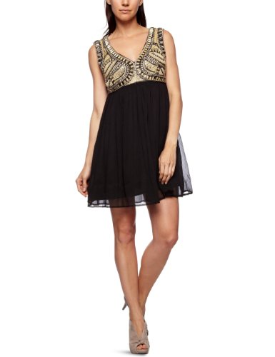 Yumi Beaded Strappy Women's Dress Black Large