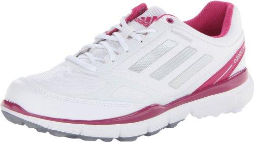 adidas Women's Adizero Sport II Golf Shoe,White/Bahia Magenta/Bahia Magenta,9.5 M US