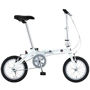 FIAT(フィアット)  軽量アルミ 14インチ コンパクト折りたたみ 小径自転車 【ステンレススポーク/スリックタイヤ標準装備】 ホワイト FIAT AL-FDB140 12203-1299