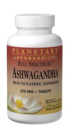 PLANETARY HERBALS Ashwagandha Full Spectrum Ayurvedic Nutritional Supplement, 570 Mg, 120 Count