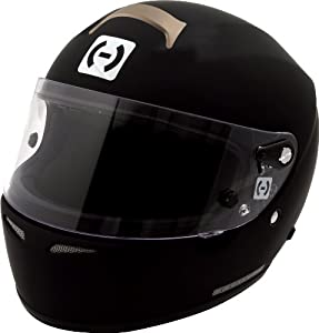 HJC Helmets Si-12 Series Rubber Tone SA2010 Approved Helmet with Clear Face Shield (Black Finish, X-Large)