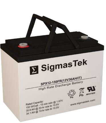 Sigmastek Spg12-90 It Gel Battery, Spg12-90, Excellent Performance In A Wide Variety Of Deep Cycle Battery Applications Very Popular In Scooters, Wheelchairs And Golf Carts