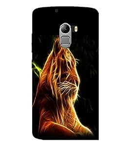 PrintDhaba Digital Lion D-1212 Back Case Cover for LENOVO VIBE X3 LITE (Multi-Coloured)