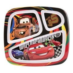 Zak! Designs Three Section Plate - Cars 2