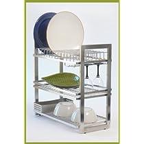 Zojila Patagonia 3-tier Stainless Steel Dish Rack