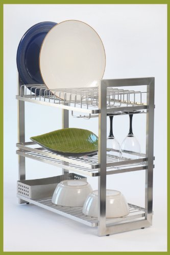 Zojila Patagonia 3 Tier Stainless Steel Dish Rack Holiday