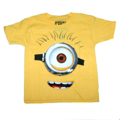 "Despicable Me 2 - Stewart ""Eye See You"" - Size 10/12 - Yellow"