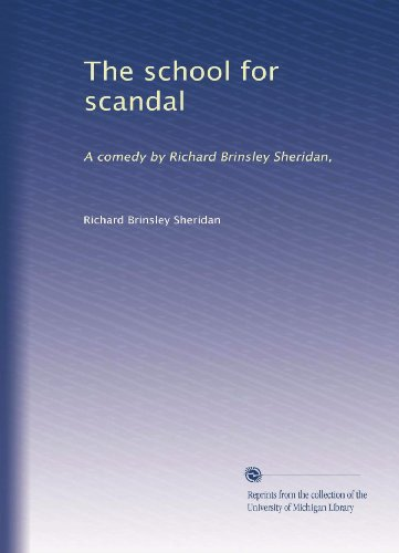 The school for scandal essay