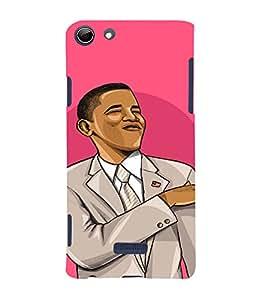 PrintVisa Cool Obama Design 3D Hard Polycarbonate Designer Back Case Cover for Micromax CanvasSelfie3Q348