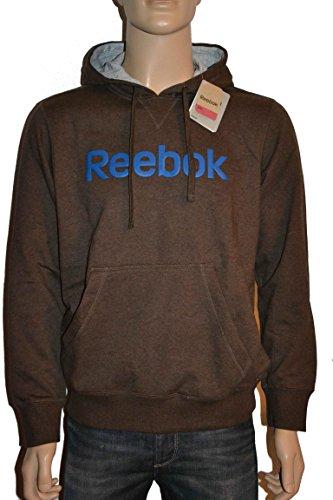 Reebok -  Felpa con cappuccio  - Uomo Brown Large