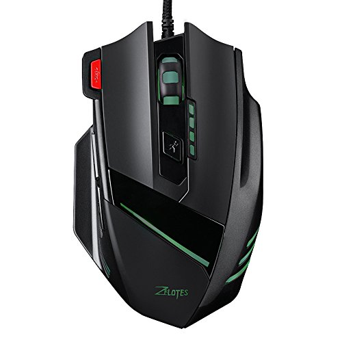 Pictek FPS Gaming Mouse [Fire Button][ 7200 DPI High Precision] Ergonomic Wired Mice Optical Computer Mouse for FPS Gamer for PC/Laptop/Desktop/Mac