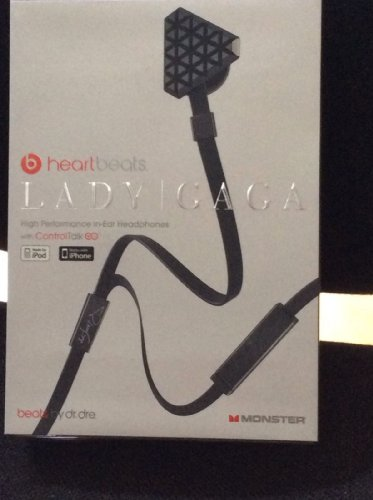 Monster Cable Lady Gaga Heartbeats Multilingual Controltalk In-Ear Headphones - Black Chrome