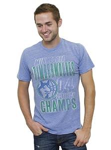 NBA Minnesota Timberwolves Mens Vintage Tri-Blend Short Sleeve Crew T-Shirt, Liberty by Junk Food