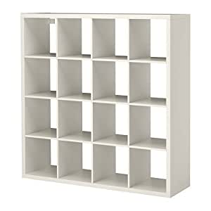 ikea kallax multi purpose shelving unit bookcase display case white modern. Black Bedroom Furniture Sets. Home Design Ideas
