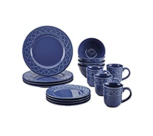 Paula Deen Savannah Trellis Stoneware 16-pc. Dinnerware Set + $30 Cash Back by Mail and FREE BONUS GIFT see offer details