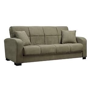 Handy Living C1-S1-AAA63 Damen Microfiber Convert-a-Couch, Sage Green