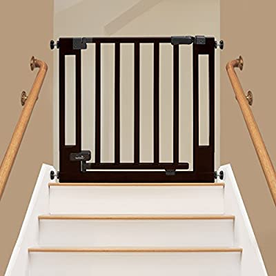 Summer Infant Multi-Use Deluxe Wood Walk-Thru Gate, Dark Cherry