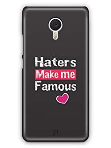 YuBingo Haters Make me Famous Mobile Case Back Cover for Meizu M3 Note