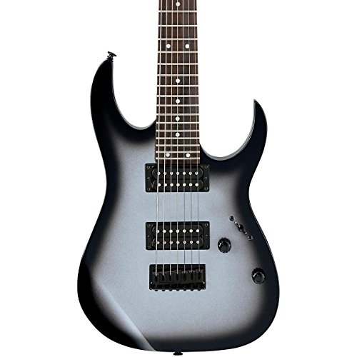 Ibanez Grg7221 7-String Electric Guitar Metallic Silver Sunburst