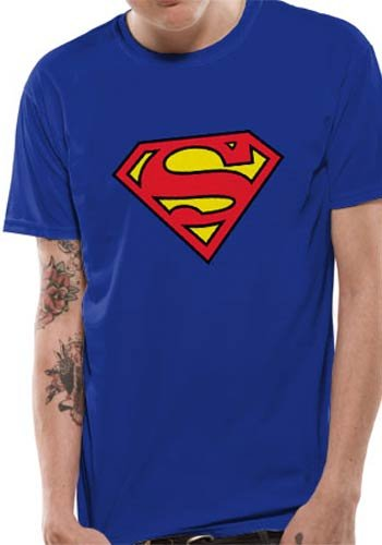 Mercanzie Licenza Ufficiale SUPERMAN - LOGO T-Shirt (Blu), Small