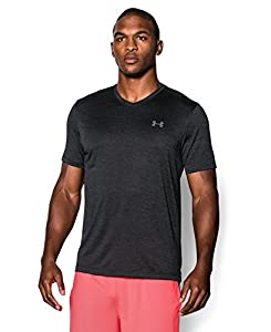 Men's Under Armour Tech V-Neck T-Shirt, Black (001), Large
