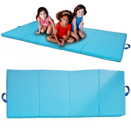 Review Of Blue 4'x8'x2 Gymnastics Gym Folding Exercise Aerobics Tumbling Karate yoga Mat