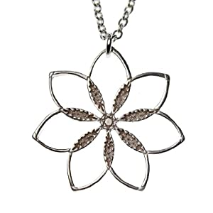 Flower Power! Silver-dipped Pendant Necklace on 18