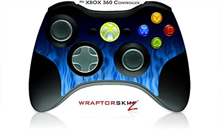 XBOX 360 Wireless Controller Decal Style Skin - Fire Blue (Controller Not Included)