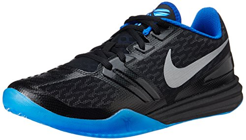 nike KB kobe mentalità scarpe ginnastica pallacanestro 704942 scarpe da tennis, Black/Metallic Silver-GM Royal-Photo Blue, 9.5 UK / 44.5 EU / 10.5 US