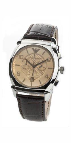 Emporio Armani Classic Chronograph Amber Dial Mens Watch AR0348
