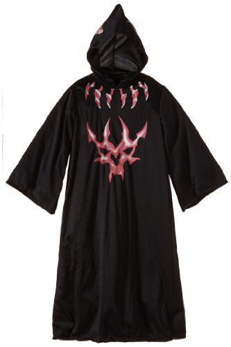 Halloween Concepts Child'S Black And Red Devil Robe, Medium front-1018842