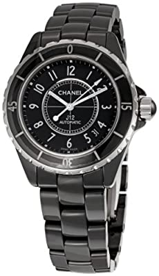 Chanel Men's H0685 J12 Black Dial Watch