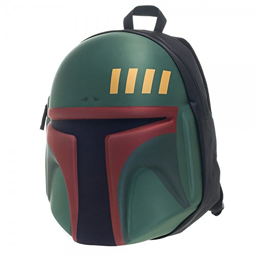 "Star Wars BOBA FETT Moulded Deluxe 18"" Large Backpack"
