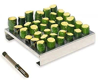 King Kooker Stainless-Steel 36-Hole Jalapeno Rack with Corer 36JR New by Home Comforts