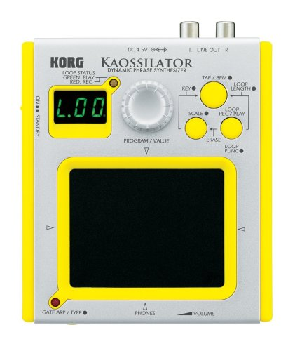 Korg Kaossilator Dynamic Phrase Synthesizer - Yellow Case