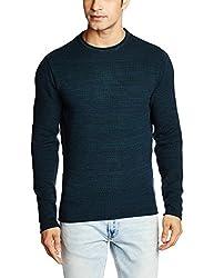 Basics Men's Cotton Sweater (8907054762330_15BSW32820_X-Large_Aurora)