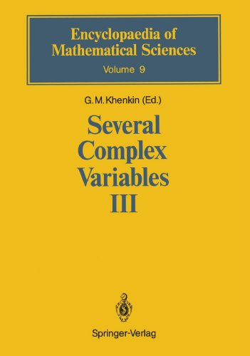 Several Complex Variables Iii: Geometric Function Theory (Encyclopaedia Of Mathematical Sciences)