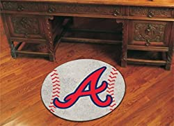 "Atlanta Braves 29"" Round Baseball Floor Mat (Rug)"