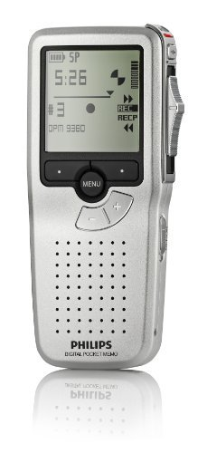 Philips LFH9380/27 Professional Digital Pocket Memo 9380 with Slide Switch (Silver)