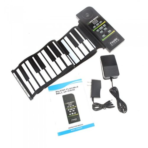 [해외]UNTA 디지털 & A; 휴대용 61 키 롤 최대 전자 피아노 키보드 유연한 롤업 전자 미디 키보드 피아노/AFUNTA Digital & Portable 61 Keys Roll Up Electronic