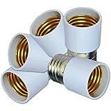 ZITRADES(TM) 10PCS/Lot E27 male to E27 female Bulb Holder Silver Tone White Adapter Extender