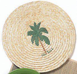 Palm Round Placemat - Buy Palm Round Placemat - Purchase Palm Round Placemat (Bealls, Home & Garden, Categories, Kitchen & Dining, Kitchen & Table Linens, Place Mats, By Style, Casual)