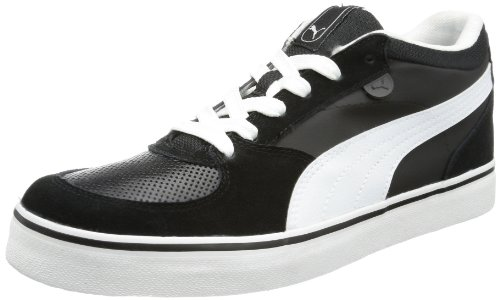 Puma Skate Vulc Low Top Mens Black Schwarz (black-white 08) Size: 8 (42 EU)